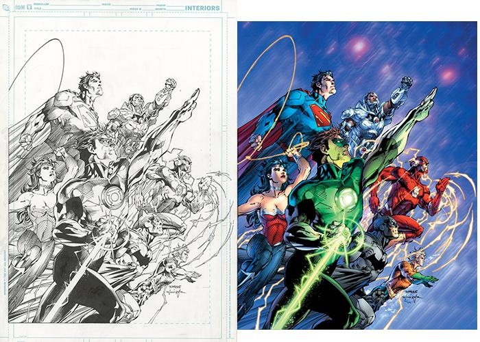 Jim Lee art from The Art of Comic-Con Gallery Exhibition at the San Diego Central Library