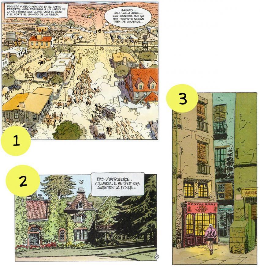 Transition scenes in comics
