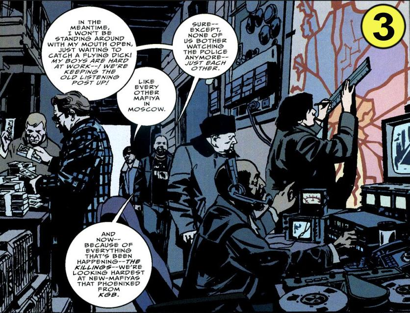 Shadowy scene from The Winter Men #4, copyright 2006 Brett Lewis and John Paul Leon