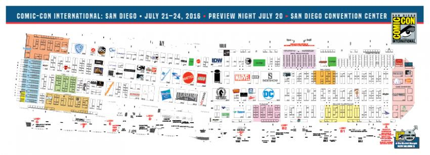 Comic-Con International 2016 Exhibit Hall Map