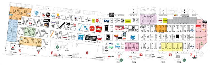 Comic-Con International 2018 Exhibit Hall Map