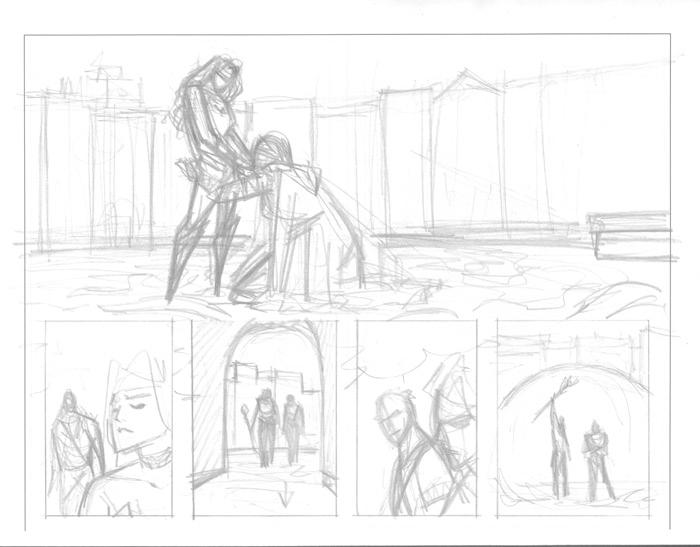 Wonder Woman #27, Pages 4 and 5 Layouts