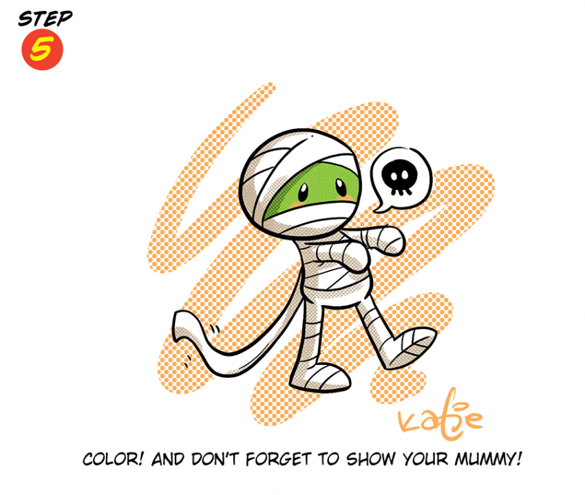Katie Cook: How to Draw a Mummy
