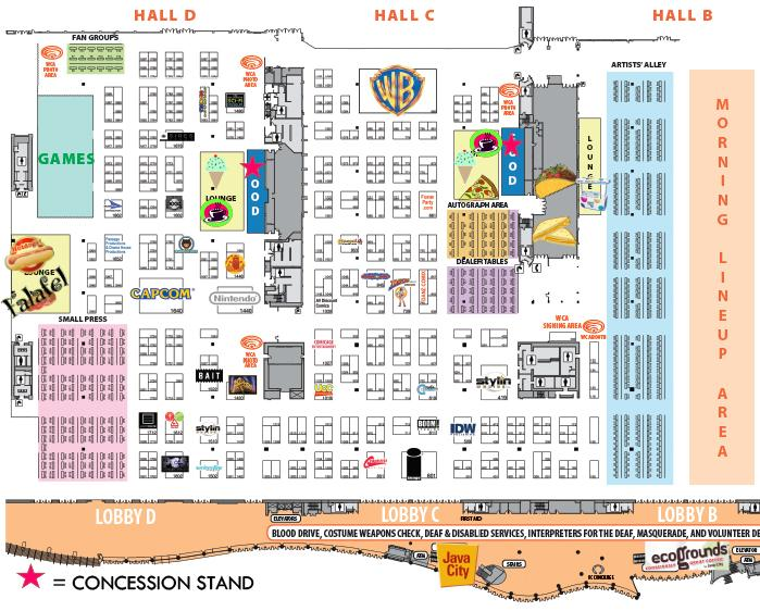 WonderCon Anaheim 2015 Exhibit Hall Food Locations