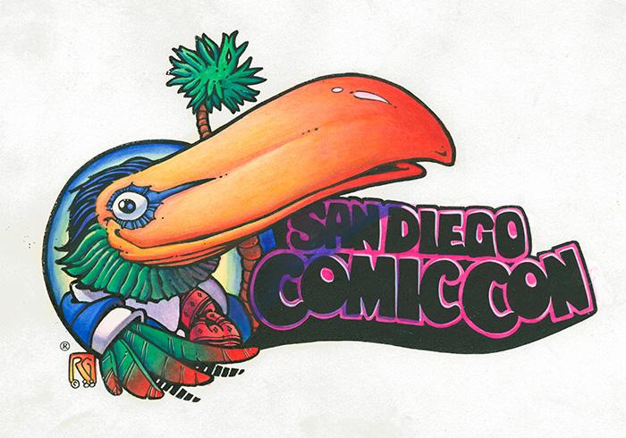 San Diego Comic-Con Toucan Logo by Rick Geary