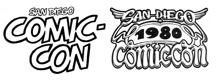 Comic-Con 1970s and 1980s Logos