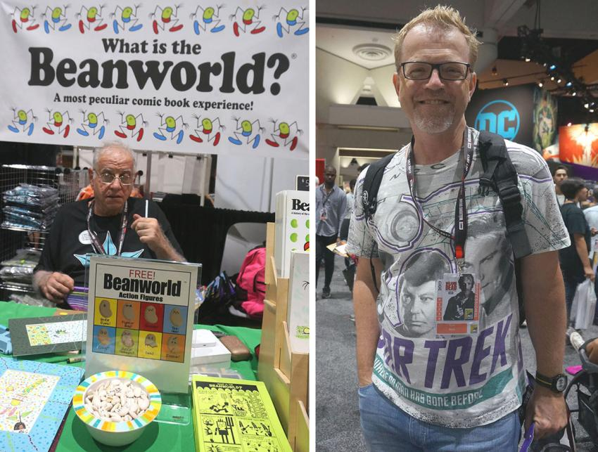Larry Marder and Scott Brick at Comic-Con International 2017