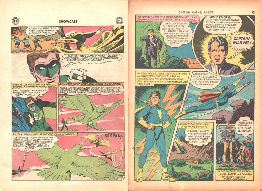 Green Lantern and Captain Marvel Jr.