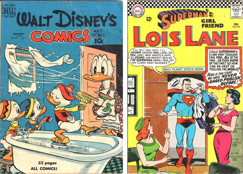 Walt Disney's Comics and Stories and Superman's Girl Friend Lois Lane