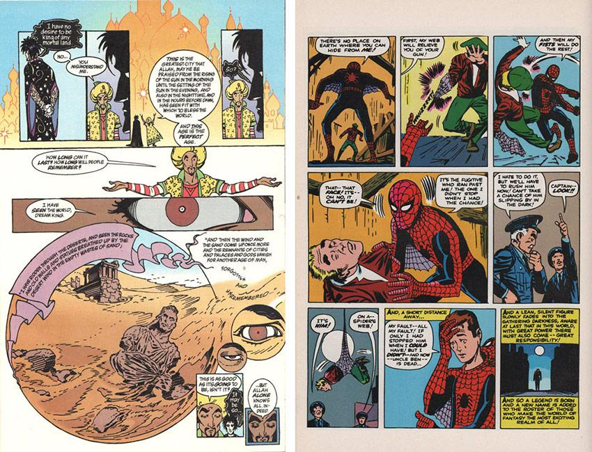 Sandman and Spider-Man