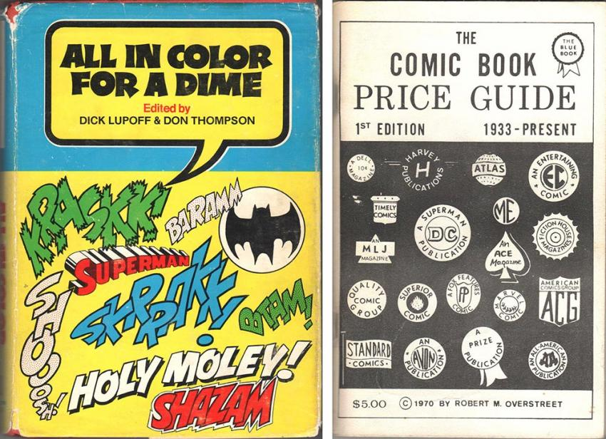 All In Color For A Dime and The Overstreet Comic Book Price Guide