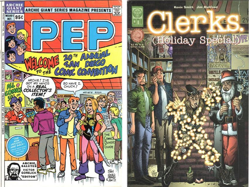 Pep Comics and Clerks