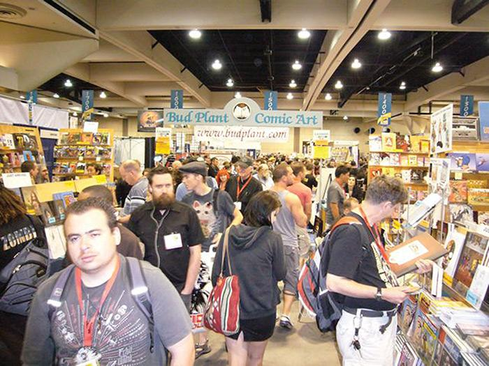 Bud Plant's booth at Comic-Con in the early 2000s