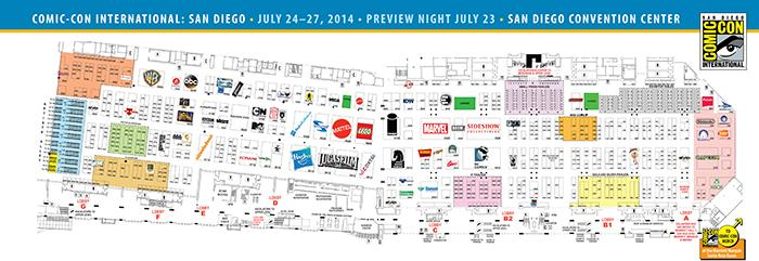 08/SDCC 2014: SDCC 2014 Exhibit Hall Map and Exhibitor Lists Now