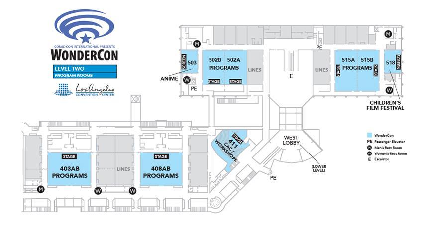 WonderCon 2016 Level Two Programming Rooms