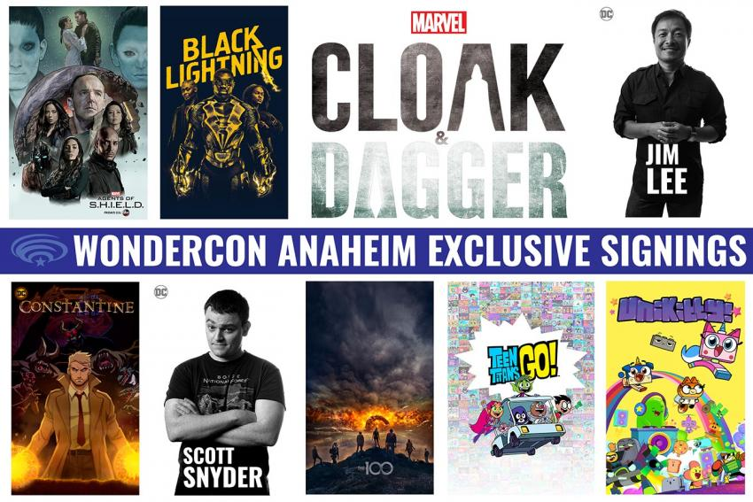 WonderCon Anaheim 2018 Exclusives Signings